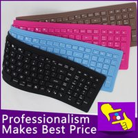 107keys VENTA mayor-caliente plegable flexible impermeable de silicona suave teclado Bluetooth inalámbrico 2.4G para la PC de la tableta