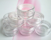 art samples - 200pcs g ml transparent small round bottle with lid jars pot container clear plastic sample container for nail art storage