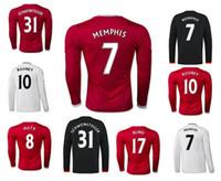 Soccer memphis - Whosales ManchesterERS Jersey Football Jerseys Long sleeve Rooney Memphis Depay Soccer Jerseys UTD SCHWEINSTEIGER Martial