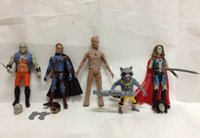 Wholesale Guardians of the Galaxy Action Figure Toys Rocket Groot one pack of five figure Garage Kits Dolls Brinquedos Anime