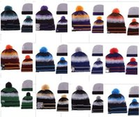 Wholesale New Arrival Team Beanies Hats Football Beanies Caps Sports Team Hats Fashion knitted Beanies with Pom Skulls Beanie Pom Pom Beanies DHL