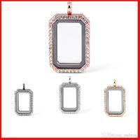 Wholesale floating locket DIY Jewelry transparent glass frames floating charm lockets pendants Multicolor optional fashion locket