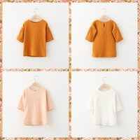 baby girl tees - New Arrival Princess Kids Girls Jacquard Candy Color Fall tees T Shirts Blouse Christmas Sweet Babies Girls Casual Tops