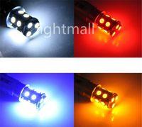 al por mayor 1157 azul llevó luces-Alta calidad 1156 382 1157 BA15S P21W bay15d p21 / 5w bay15d PY21W llevó la bombilla 13 SMD 5050 freno de la cola Bombilla de luz de señal roja de la lámpara 12V