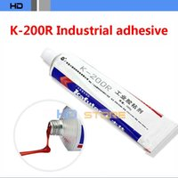 Cheap 10pcs lot Genuine kafuter K-200R Electronic screw glue Positioning red glue Screw fixation glue industrial adhesive 100g