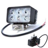 Freeshipping18W LED luz de conducción Offroad Flood / stop de la luz para 4X4 Truck Tractor SUV ATV coche LED LED faro de niebla para 12V