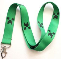 Wholesale Hot Sale BOYS CRAFT GAME Minecraft Lanyard Strap For ID Mobile Phone Neck Strap Christmas present
