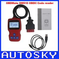 Wholesale Good quality and best price OBDMATE OM510 OBDII EOBD OBD2 Code reader Scanner Universal auto scanner OM code reader