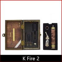 k fire ecig - K Fire Wood E cig Vision Spinner Battery Variable Voltage Metal bottom Battery Mod K Fire Ecig Kit with iclear atom DHL freeshipping