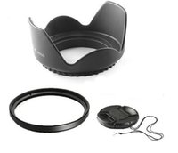 wholesale nikon - 58mm mm Flower Lens Hood UV Filter Lens Cap for Canon EOS D D D D D Nikon D80 D50 D7000 D3100 DS DSLR