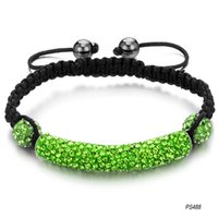 Wholesale jewelry new Shamballa bracelet green crystal diamond weave Ms PS488
