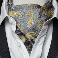 Wholesale 100 Microfiber Floral Men Cravat Style British Ascot Scarf Men Business Mens Ties New Arrival Casual Jacquard Woven Ascot