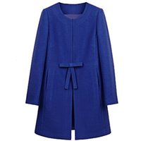 Wholesale Plus size new fall and winter woolen jacket women s bowtie tweed winter jacket S M L XL XXL