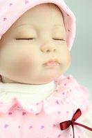 Boys Birth-12 months PVC 40cm Accompany sleep simulation doll Reborn baby doll soft silicone closing eyes Boutique gift Baby toys