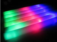 150pcs / lot bâtons de mousse LED allumer clignotant baguettes de lueur baguettes multi-couleurs Batons Party Lot DJ Free Shipping rapide