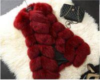 Wholesale 2088 Hot Luxury Women s Faux Fur Coat Leather Outerwear Snowsuit Long Sleeve Jacket Black fashion Women s Clothing