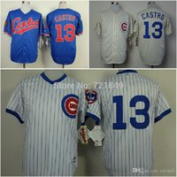 assure blue - 2015 New quality assured Throwback Chicago Cubs Jersey Starlin Castro retro cream blue white older men s baseball shirts whole