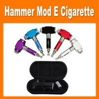 Single Black Electronic Cigarette GS Hammer Mod Kit UAKE E-cigarette Thor Hammer Pipe E cig with 18350 Battery Electronic Cigarette Kit Colourful in EGO Bag 0212026