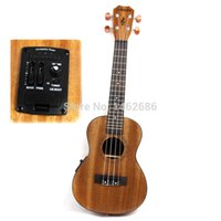 Wholesale 23 inch electric box guitar ukulele ukulele small band EQ mixer Hawaii cable feed