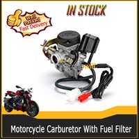 Wholesale Motorcycle Grey Carburetor with Fuel Filter fit for Gator Roketa SUN JCL Qingqi QM50QT V Vento Tank Wildfire Boss