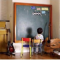 Wholesale Vinyl cm X cm Chalkboard Wall Stickers Removable Blackboard Decals With Chalks