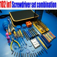 Wholesale Jackly102 in1 Screwdriver set combination iphon s laptops mobile phone mini PC appliance repair tools order lt no track