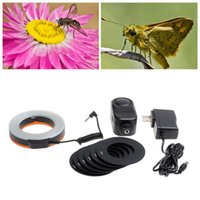 Wholesale W48 LED Makro Macro Ring Lighting Flash for DSLR for CANON NIKON camera ZM00088