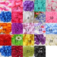 Wholesale 2000pcs Rose Petals for Wedding Artificial Silk Flowers Petalas Supplies Favor Party Decoration Carpet Weddings Accessories