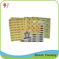 adhesive aluminium label - Customized self adhesive matte silver aluminium label printing