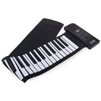 usb midi - 61 Keys Foldable USB MIDI Interface V Controller Piano Rubber Keyboard Flexible Roll Up Piano for Preprimary Children