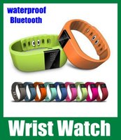 Wholesale Waterproof Bluetooth TW64 Smart Bracelet Akin Fitbit Flex Anti Lost Sleep Tracker Remote Photograph Wrist Watch for IOS Android phone oth048
