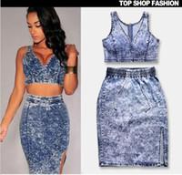 Wholesale New Fashion Women Denim Dresses High elasticity sexy Dress Plus Size Jeans Dress