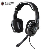 Wholesale Sades SA in Channel USB Stereo Gaming Headset Headphone with Mic for PC Playstion PS3 Xbox