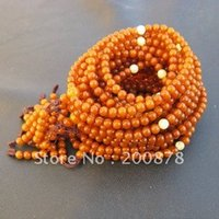 baltic amber prayer beads - BRO696 Tibetan Orange Beeswax MILA Rosaries mm g Natural Baltic Amber Prayer Beads Mala girls bracelet