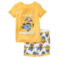 pajamas for children - 2015 Summer Children Pajamas Despicable Me Monster high Avengers Kids Pajama Kids Cartoon Clothing T Shirt pants For Baby boys girls DHL Fre