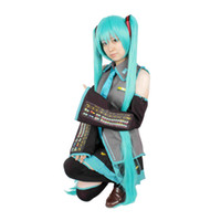 Wholesale Milica Books Japanese Anime VOCALOID Hatsune Miku Cosplay Costume with Leek hair clips Deluxe Original Version