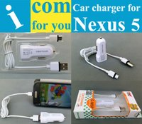 Cheap Wholesale-USB Car Charger for LG Optimus G Pro E985 E988 E980 F240 G Flex Nexus 4 E960 Nexus 5 G2 5V 1A High quality Security assurance