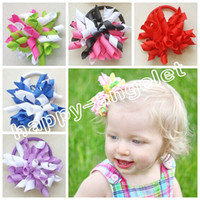 gymboree - 50pcs baby quot Cute Korker Hair bows clips M2M Gymboree style curly corker hair Accessories variety styles candy color hair bobbles PD007