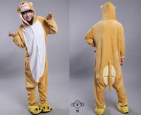 Wholesale 2015 Cosplay Winter Monkey Kigurumi Pajama Flannel Pajamas Hooded Conjoined Sleepwear Costumes Adult Unisex Onesie Soft Sleepwear CC060507