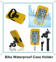 Cheap Bike Motorcycle Handlebar Mount Holder Waterproof Sealed Case Cover for iphone 6 Plus 5.5 inch