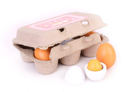 Wholesale 2016 new set Wooden Eggs Yolk Pretend Play Kitchen Game Food Cooking Children Kid Toys Gift