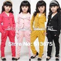 Wholesale kids clothes baby clothes Hot sale Fashion elegant Girl blazer girl suit clothes set autumn children s clothing girls clothing