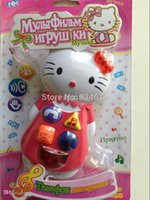 Wholesale Hello Kitty Baby Phone Musical Electronic Toys Mobile Phone Toy For Children Gifts