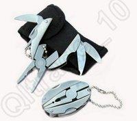 Wholesale 100PCS HHA545 outdoor tools Multi Function Folding Pocket Tools mini Plier Knife Screwdriver keychain Case Set