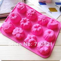 baking pans types - flower type Muffin Candy Jelly Ice Cream Mold Pudding Pie Silicone Mould Baking Pan Tray Bakeware Cooking tools