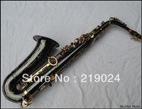 Gros-saxophone alto, noir plaqué nickelé, clé Eb