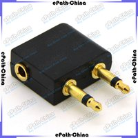 Wholesale 3 mm Universal Stereo Earphone Converter Power Travel Adapter For Airplane On Plane On broad