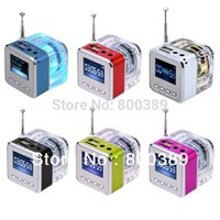 Wholesale TT Mini Portable Speaker LCD Screen Music MP3 Player Micro SD TF HiFi Speakers USB Disk and FM Radio