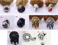 Wholesale 2016 New hot sale Star War Brooch Pins Star Wars The Force Awakens BB8 BB Droid Robot Brooch Pins Jedi Knight Darth Vader Brooches Pins