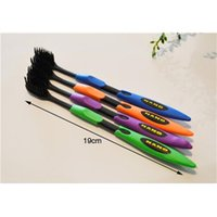 Cheap 4pcs lot Bamboo Charcoal Toothbrush Odontologia Wholesale Free Shipping Bamboo Tooth brush of Dental Care for Soft Brush
